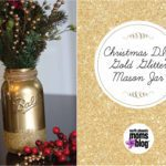 DIY Christmas Gold Glitter Mason Jar