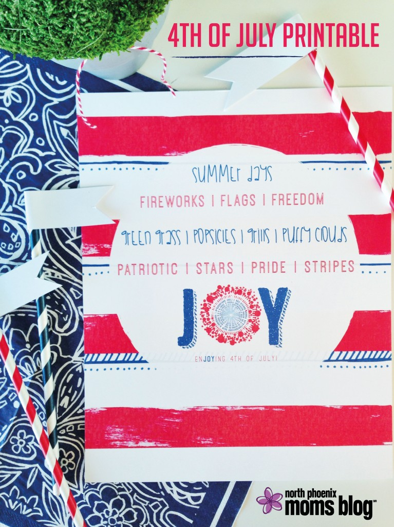 North Phoenix Moms Blog - 4th of July Printable