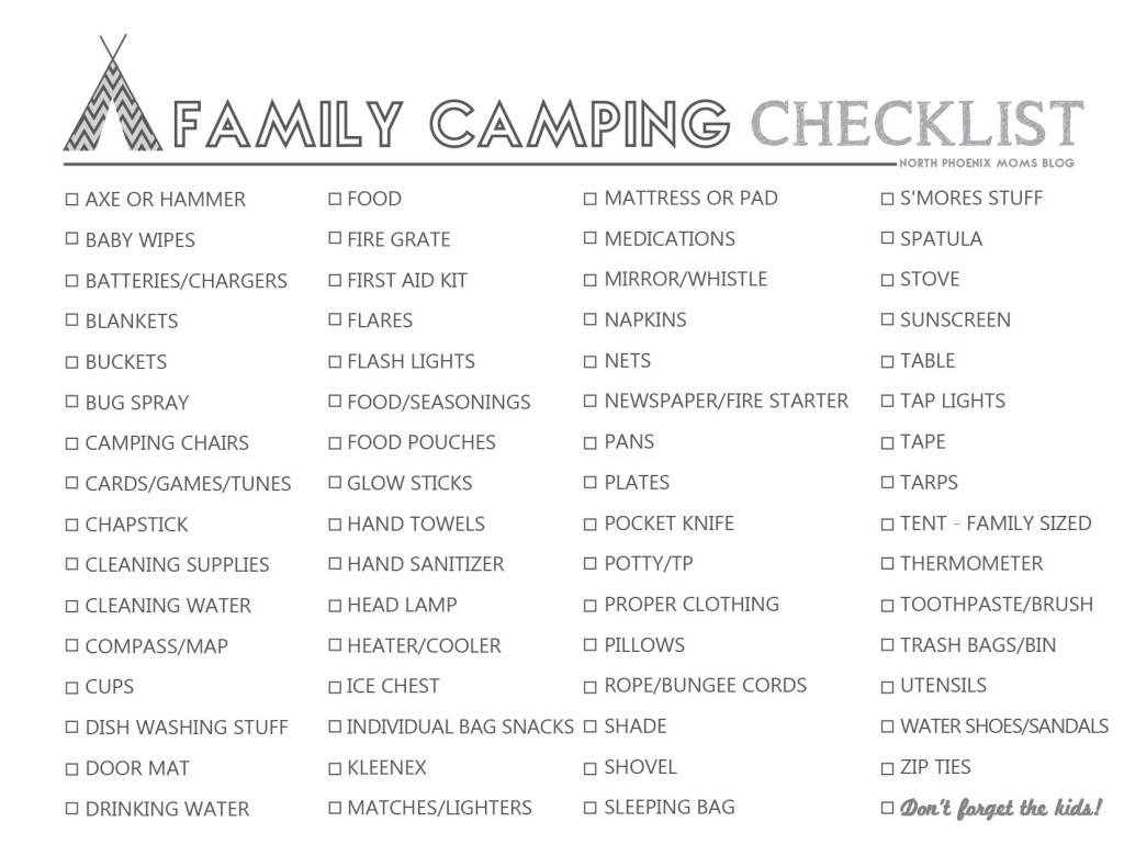 top 10 essentials for camping with kids