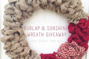 North Valley Moms Blog - Burlap & Sunshine Wreath Giveaway - Thumbnail