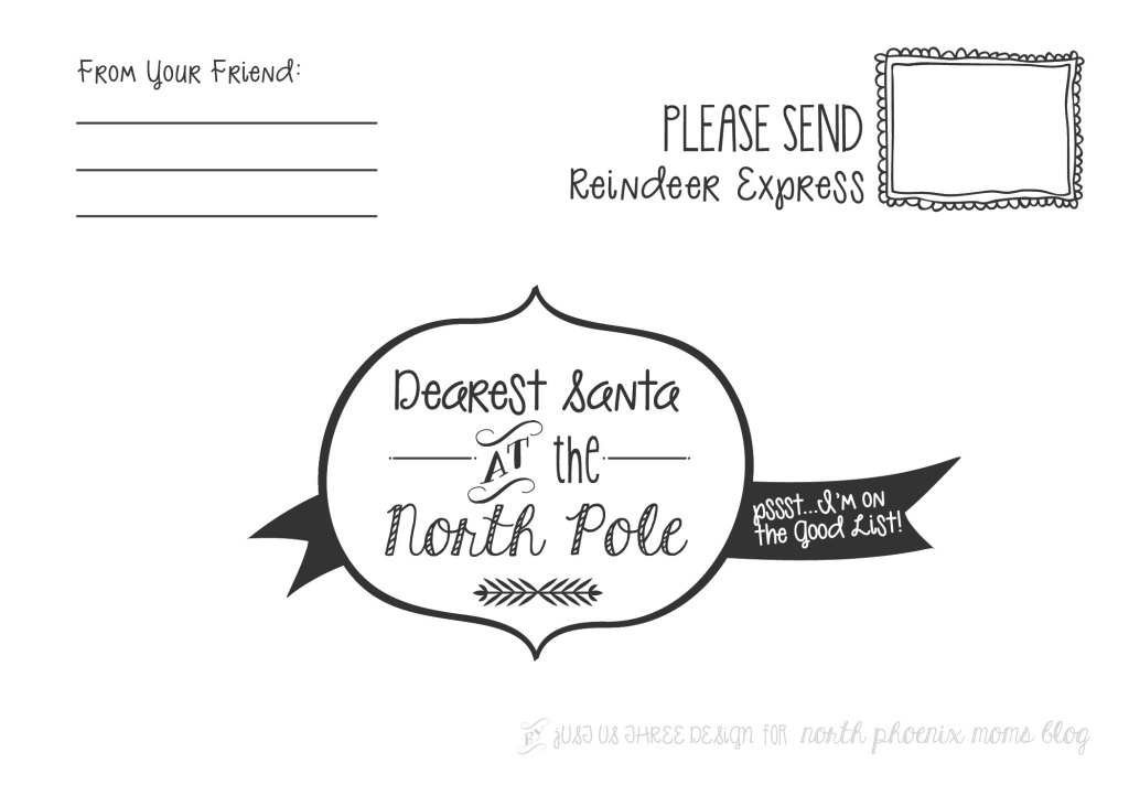 Dearest Santa at the North Pole  Printable Letter to Santa