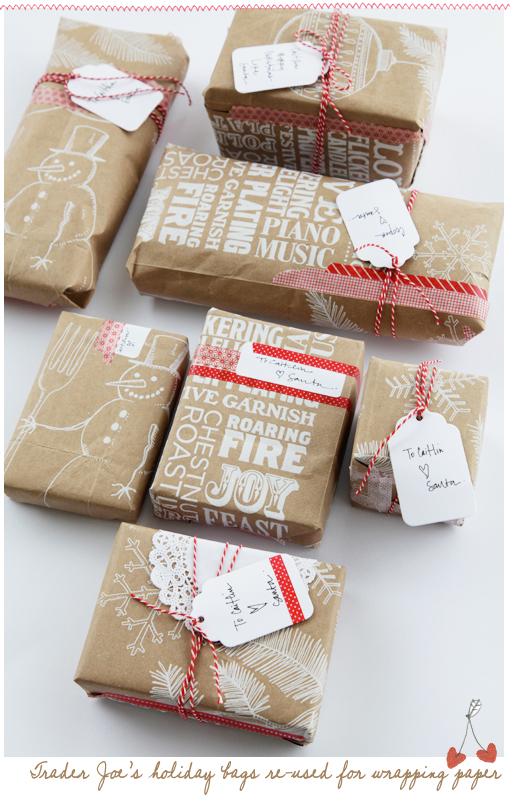 Nice Diy Christmas Gift Wrapping Ideas Part - 4: Trader Joes Holiday Wrapping. For More Gift Wrapping Ideas ...