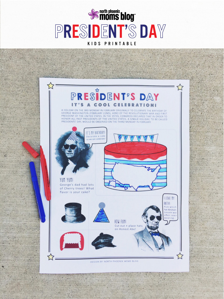 North Phoenix Moms Blog - President's Day Printable Cover