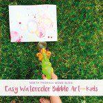 Easy Watercolor Bubble Art For Kids