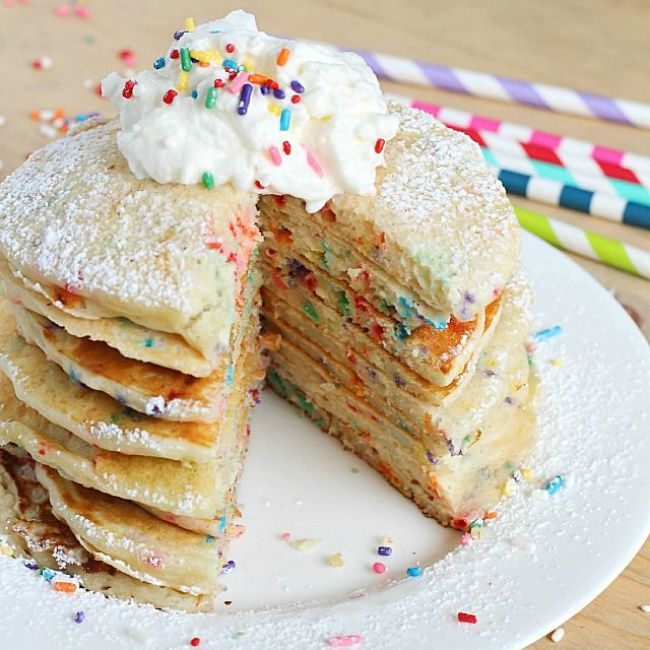 Funfetti Pancake Recipe for National Pancake Day Funfetti Party