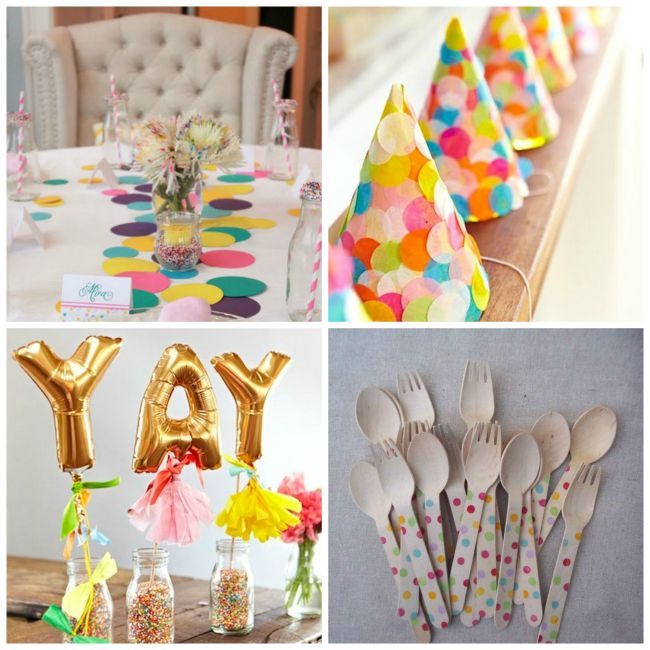 Party Decorations for Confetti Party - Celebrate National Pancake Day with Confetti Pancakes