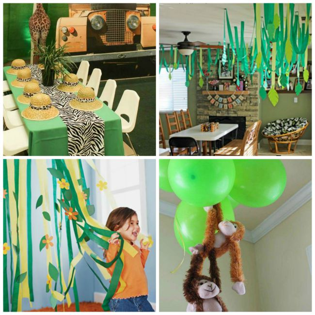 Jungle Party Decor - Celebrate National Pancake Day with Monkey Pancakes and Jungle Decor
