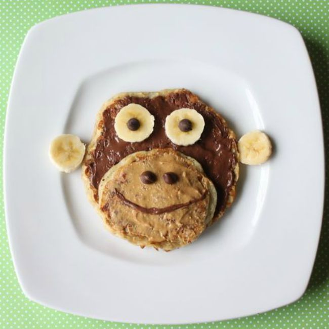 Monkey Pancake Recipe and Tutorial - Celebrate National Pancake Day with a Jungle Themed Party