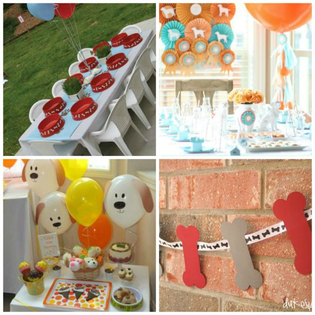 Puppy Party Decor Ideas - Celebrate National Pancake Day with Puppy Pancakes and a Puppy Party