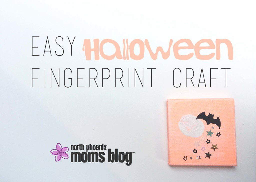 North Phoenix Moms Blog - Easy Halloween Fingerprint Craft