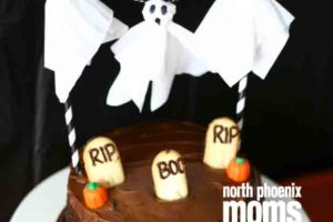 North Phoenix Moms Blog - Spooky DIY Ghost Cake Topper - DIY Halloween copy