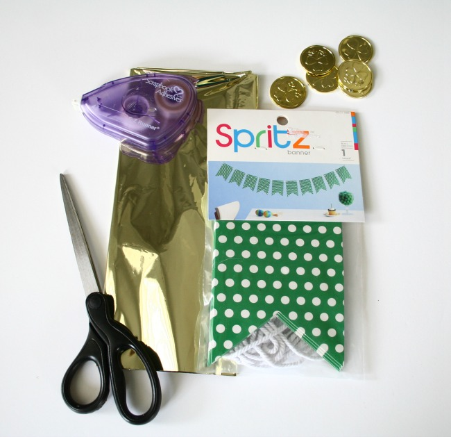 Supplies for DIY St. Patrick's Day Banner