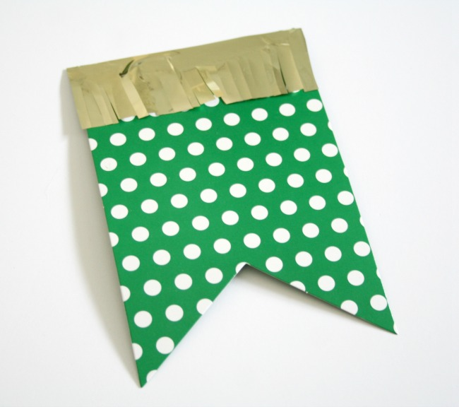 Green and White Polk A Dot with Gold Fringe St. Patrick's Day DIY Banner