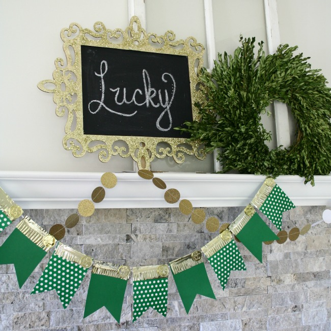 DIY St. Patrick's Day Mantle