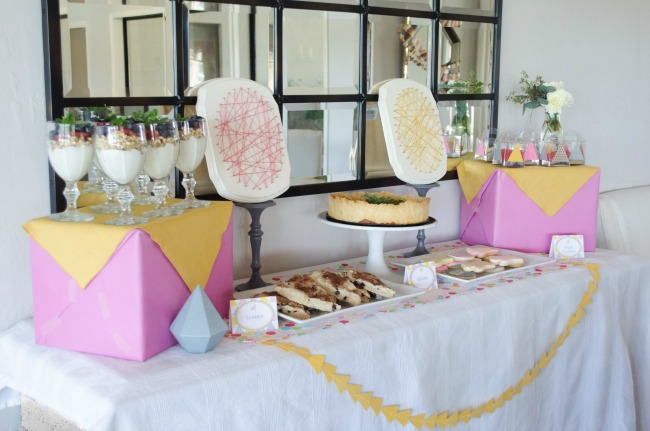 Simple Buffet Set Up for Easter Brunch
