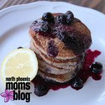 Healthy {Shortcut} Blueberry Lemonade Pancakes