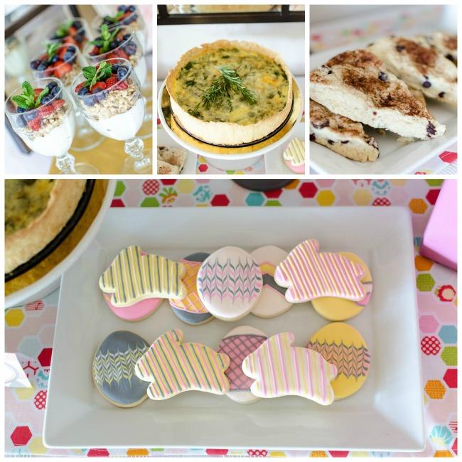 Easter Brunch Food Options - Quiche Scones Yogurt