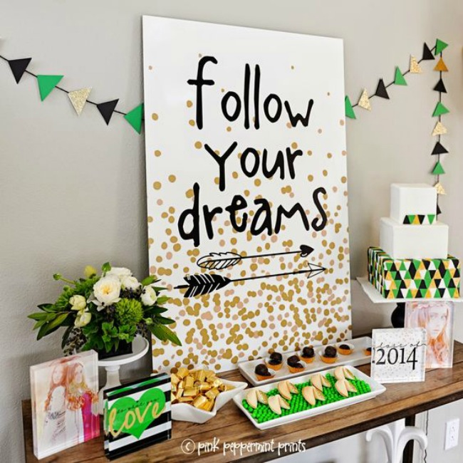 Follow your dreams graduation party theme