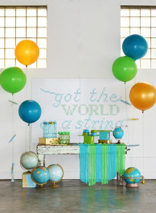 Colorful graduation party decor