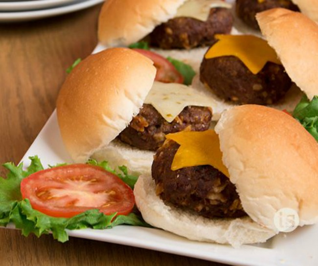 Star sliders for July Fourth BBQ celebration