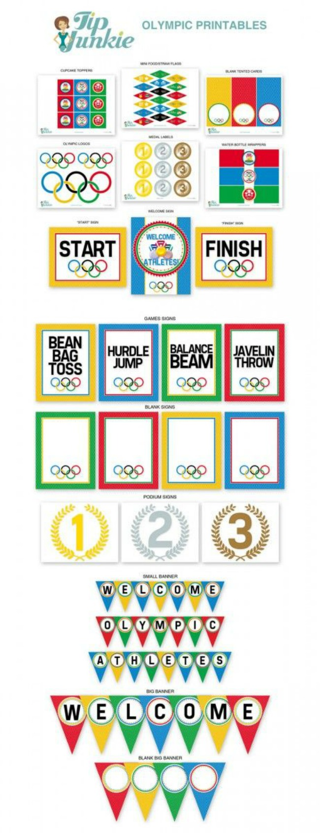 Party printable for summer olympics