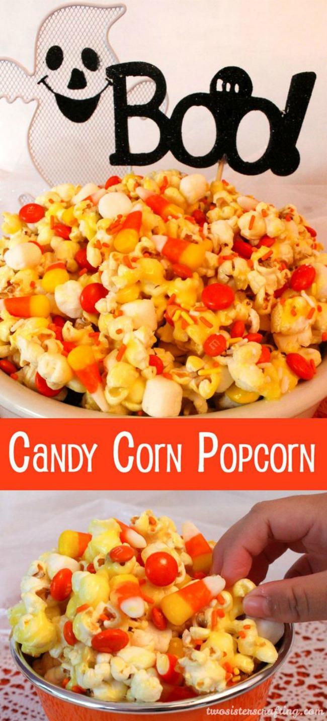 Candy corn popcorn, Halloween snack