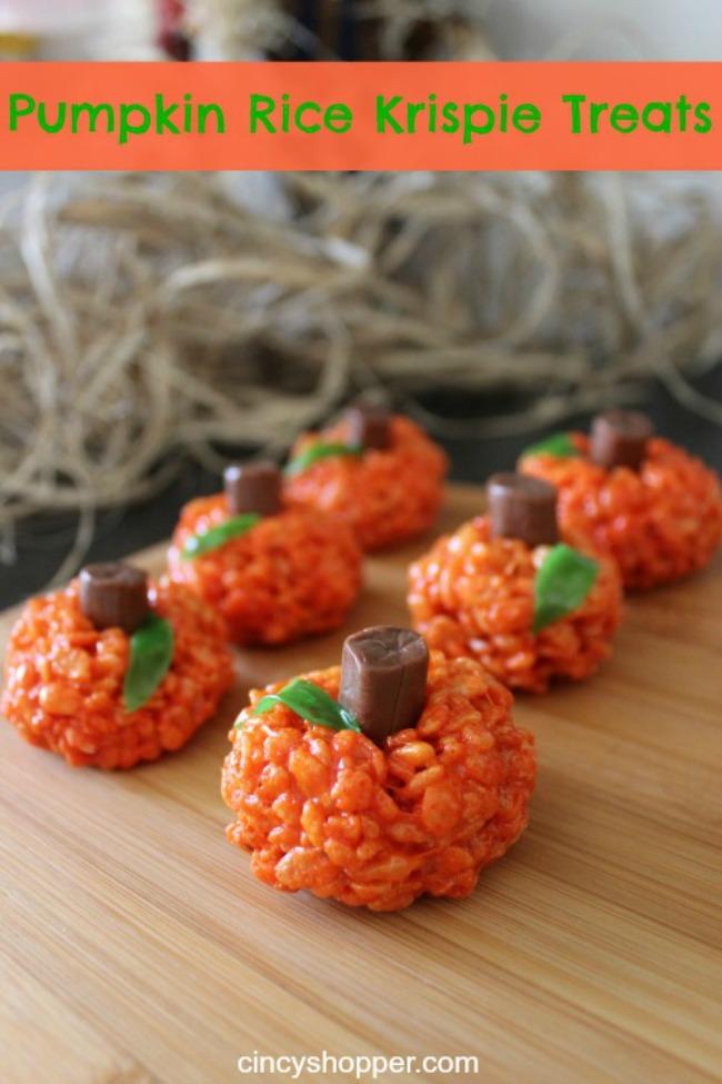 Pumpkin rice krispy treat, Halloween snack