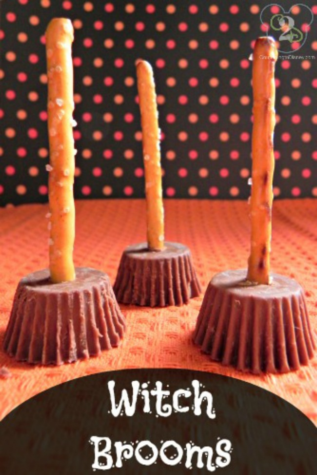 Chocolate peanutbutter witches brooms, Halloween treat