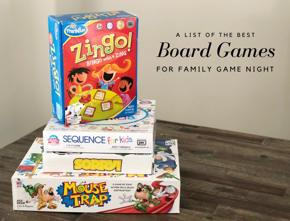 a list of the best board games for family game night