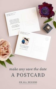 Save the Date Template with Basic Invite