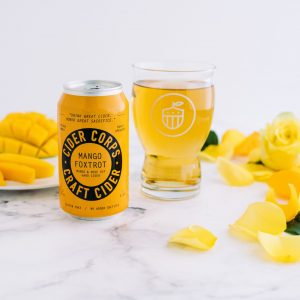 Cider Corps_Mango Foxtrot Can-Glass