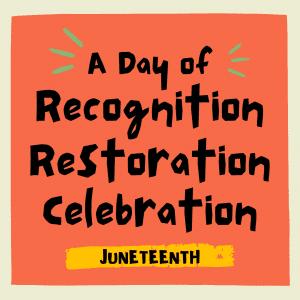 Recognition, celebration, restoration